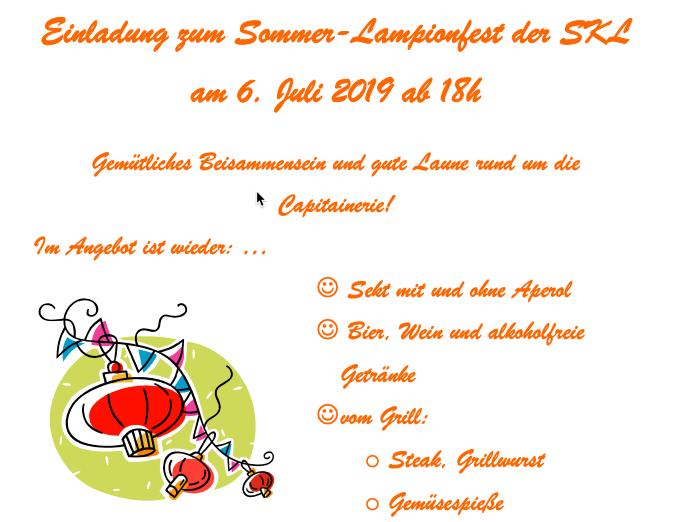 Sommerfest der Segelkameradschaft Leopoldshafen